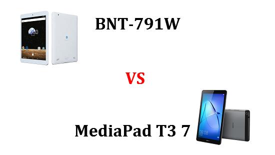 BNT-791WとMediaPad T3 7はどちらが良いのか違いを比較!