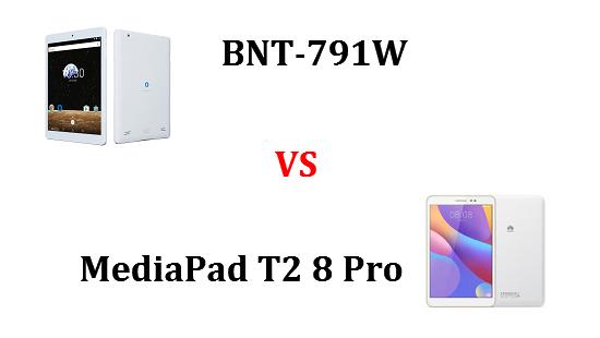 BNT-791WとMediaPad T2 8 Proはどちらが良いのか違いを比較!