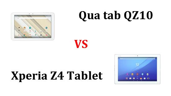 Qua tab QZ10とXperia Z4 Tablet SOT31の違いを比較してみました