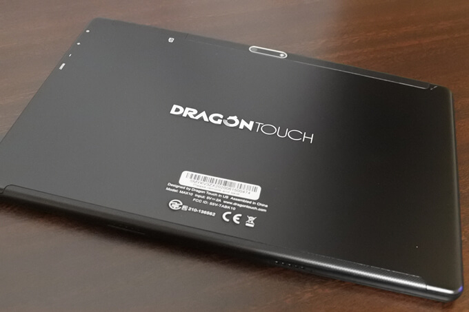 Dragon Touch MAX10の背面2