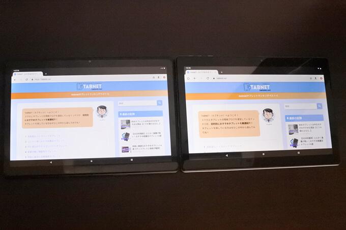 Dragon Touch MAX10とVANKYO S30の比較